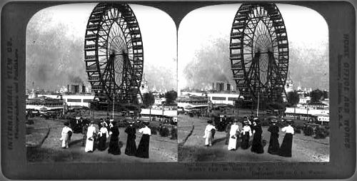 Ferris Wheel, World's Fair St. Louis, 1904. Image: Library of Congress.