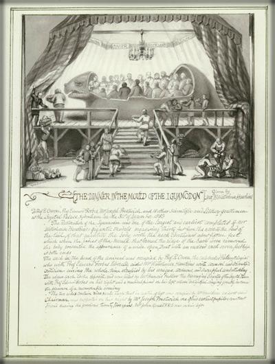 New Year's Eve Iguanodon Dinner, 1853.