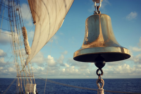 bell on old ship