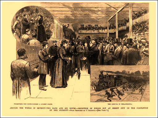 Bly's homecoming in New Jersey, 1891.