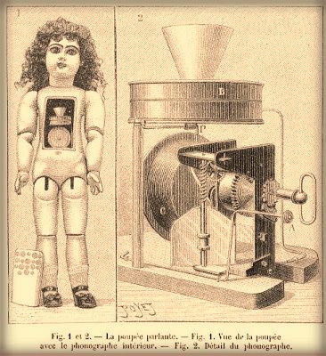 Edison's Talking Doll Drawings.