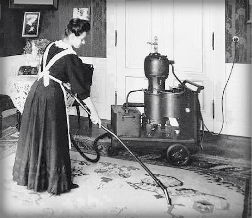 Early Vacuum Cleaner. - Racing Nellie Bly-Famous women in history