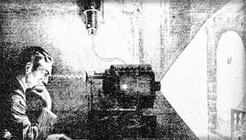 Tesla's Thought Camera. Newspaper Representation,1933.