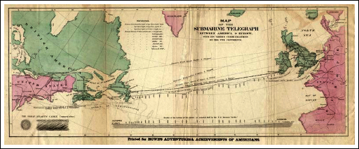 Trans-Atlantic Cable Map.