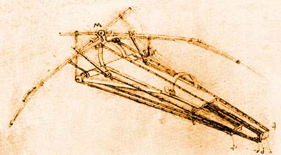 Leonardo da Vinci's Human Powered Ornithopter.