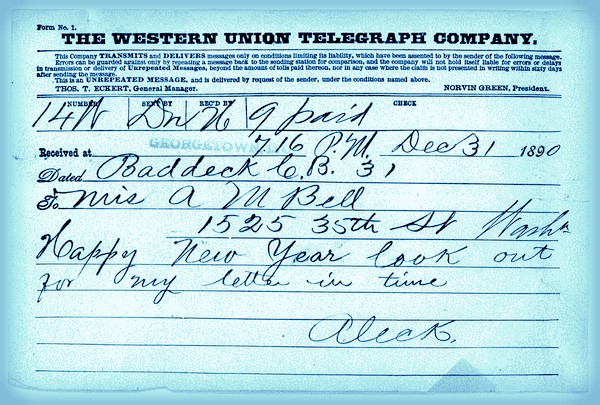 Telegram: Western Union, 1890.