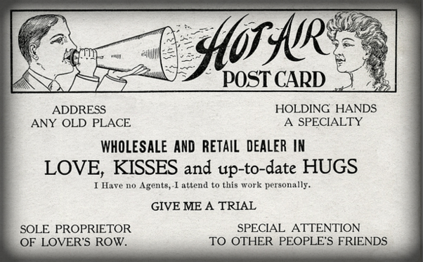 Victorian Era Flirtation Card. Image: Alan Mays, flickr.