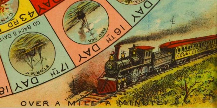 Nellie Bly Home: Victorian Era Around The World Game Board.