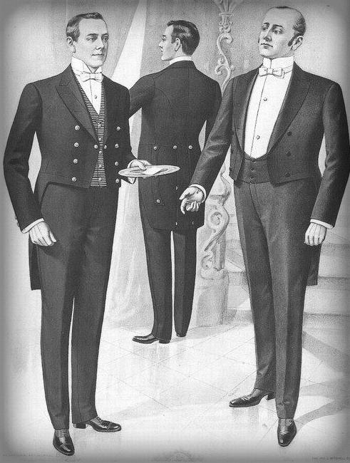 Victorian Era Butlers, 1900.