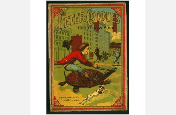 Peter Coddle's Trip To New York Game, circa 1890. Milton Bradley.