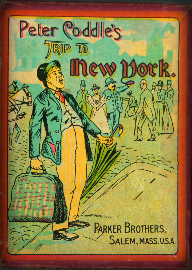 Peter Coddle's Trip To New York Game, circa 1890. Parker Brothers.