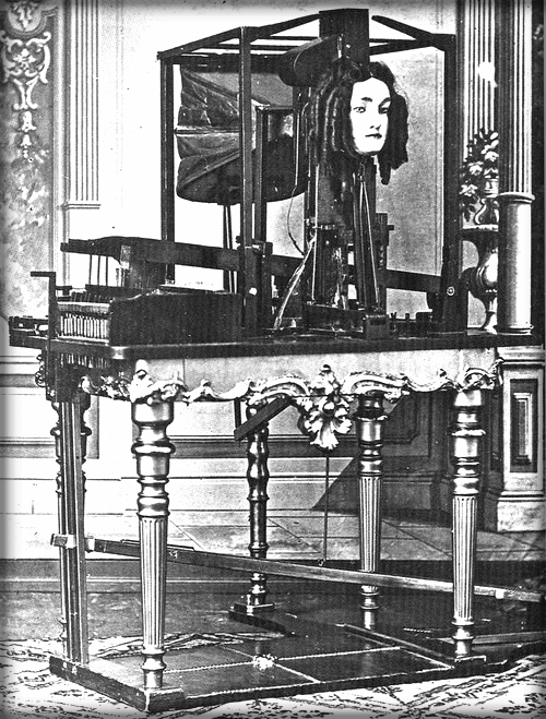 Joseph Faber's Talking Machine, Euphonia. Photo, 1846.
