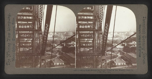 Looking Through Ferris Wheel, World's Fair, 1904. Image: hdl.loc.gov/loc.pnp/stereo.1s03203.
