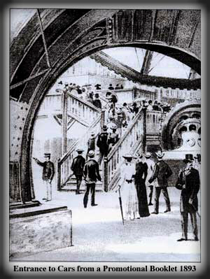 First Giant Ferris Wheel Entrance From Brochure, 1893.