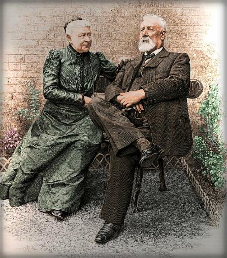 Jules Verne and Madame Verne, 1905. Image: Wikipedia.