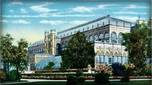 Centennial Exposition 1876, Horticulture Pavillion. Image: Philadelphia Free Library.