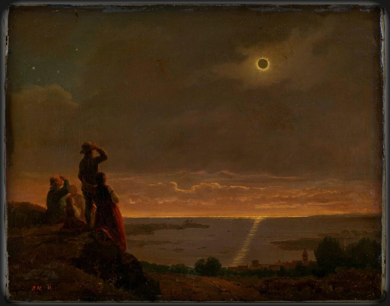 Solar Eclipse, Bengt Nordenberg, 1851. Image: Wikipedia.