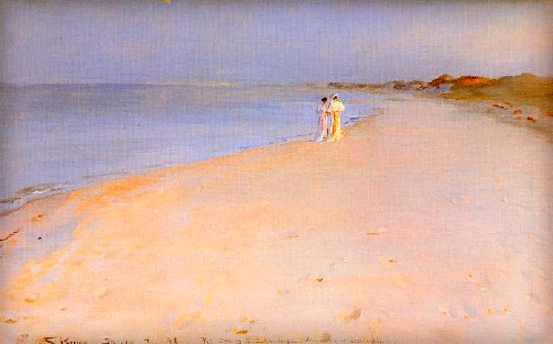 Peder Severin Kroyer: Summer Evening at Skagen Beach, 1893. Image: Wikipedia.