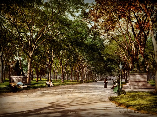 Central Park, New York City, 1901. Image:, …trialsanderrors.
