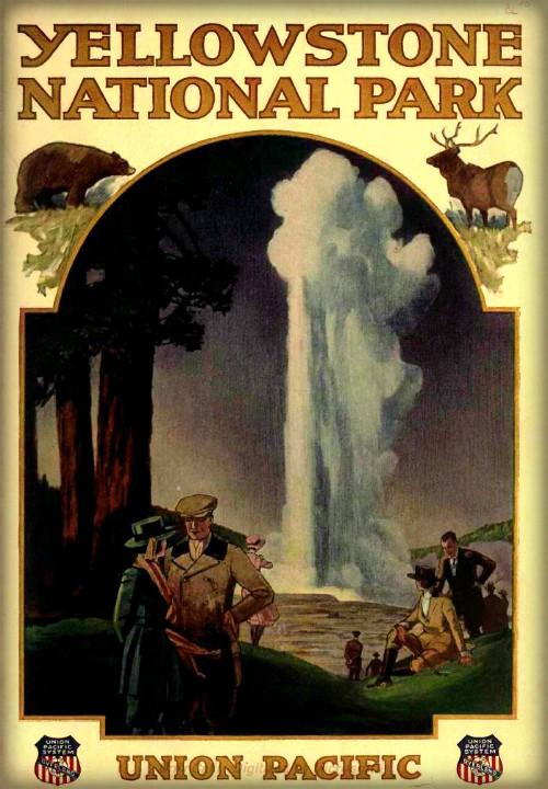 Union Pacific Yellowstone Park Brochure, 1921. Image: Wikipedia.