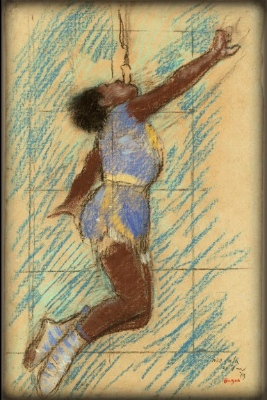 Miss LaLa At Circus Fernando Study by Edgar Degas, 1879. Image: Wikimedia.