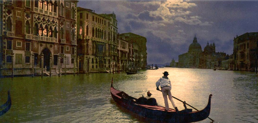 Victorian Era Photochrom Postcards: Grand Canal of Venice. Image: Library of Congress.
