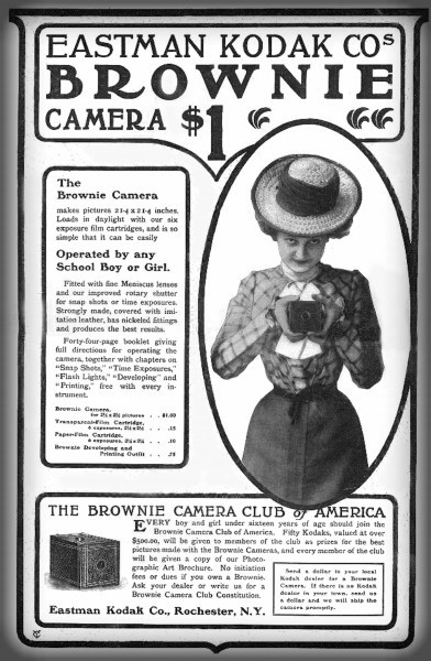 Eastman Kodak; Brownie Ad, circa 1900. Image: repository.duke.edu.