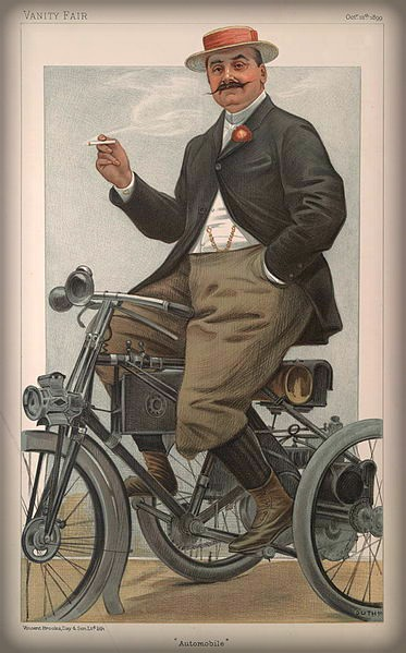 Jules-Albert de Dion, Vanity Fair, 1899. Image: Wikipedia.