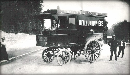 First Car Race, Etienne Le Blant, Steam, Did Not Finish. Image: VanderbiltCupRaces; Helck Family Archives.
