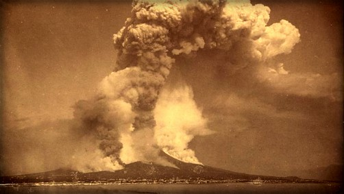 Victorian Era Krakatoa Eruption: Image: Library of Congress.