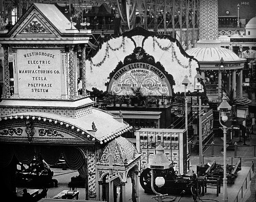 Columbian Exposition 1893, Electricity Building. Image: Library of Congress.