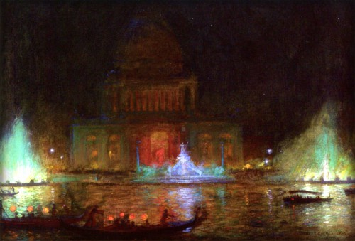 Columbian Exposition Administration Building, 1893, by Charles Courtney Curran. Image: Wikimedia.