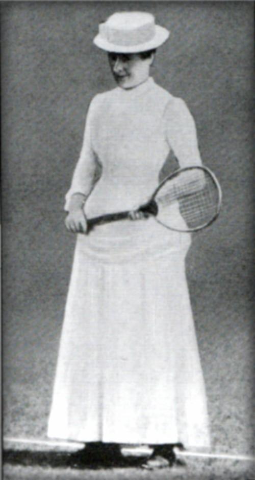 Early Tennis Fashion: Maud Watson, 1884-85. Image: Wikipedia.