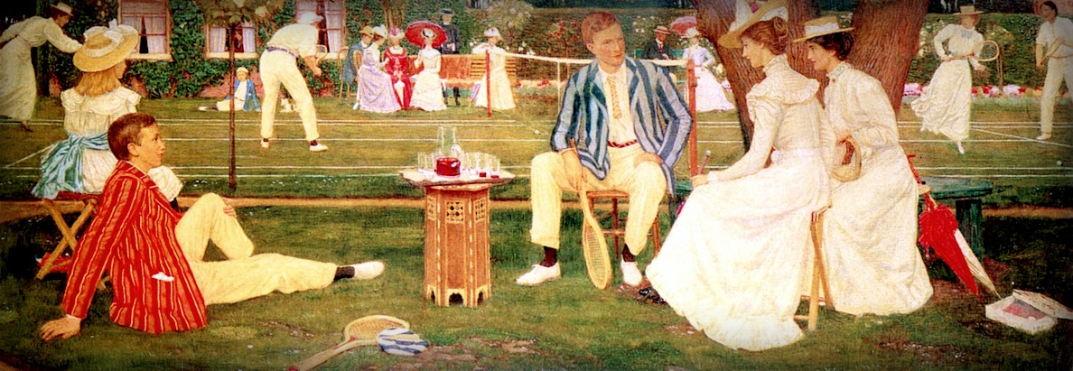 Tennis Party by Charles March Gere, 1900. Image: Wikimedia.