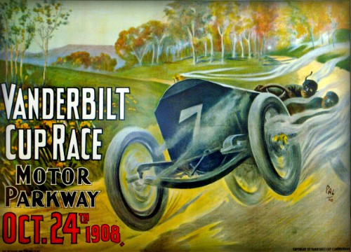 Vanderbilt Cup Race Motor Parkway, 1908. Image: VandeerbiltCupRaces.com
